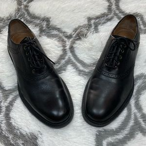 Johnston & Murphy Black Saddle Oxfords 10 M